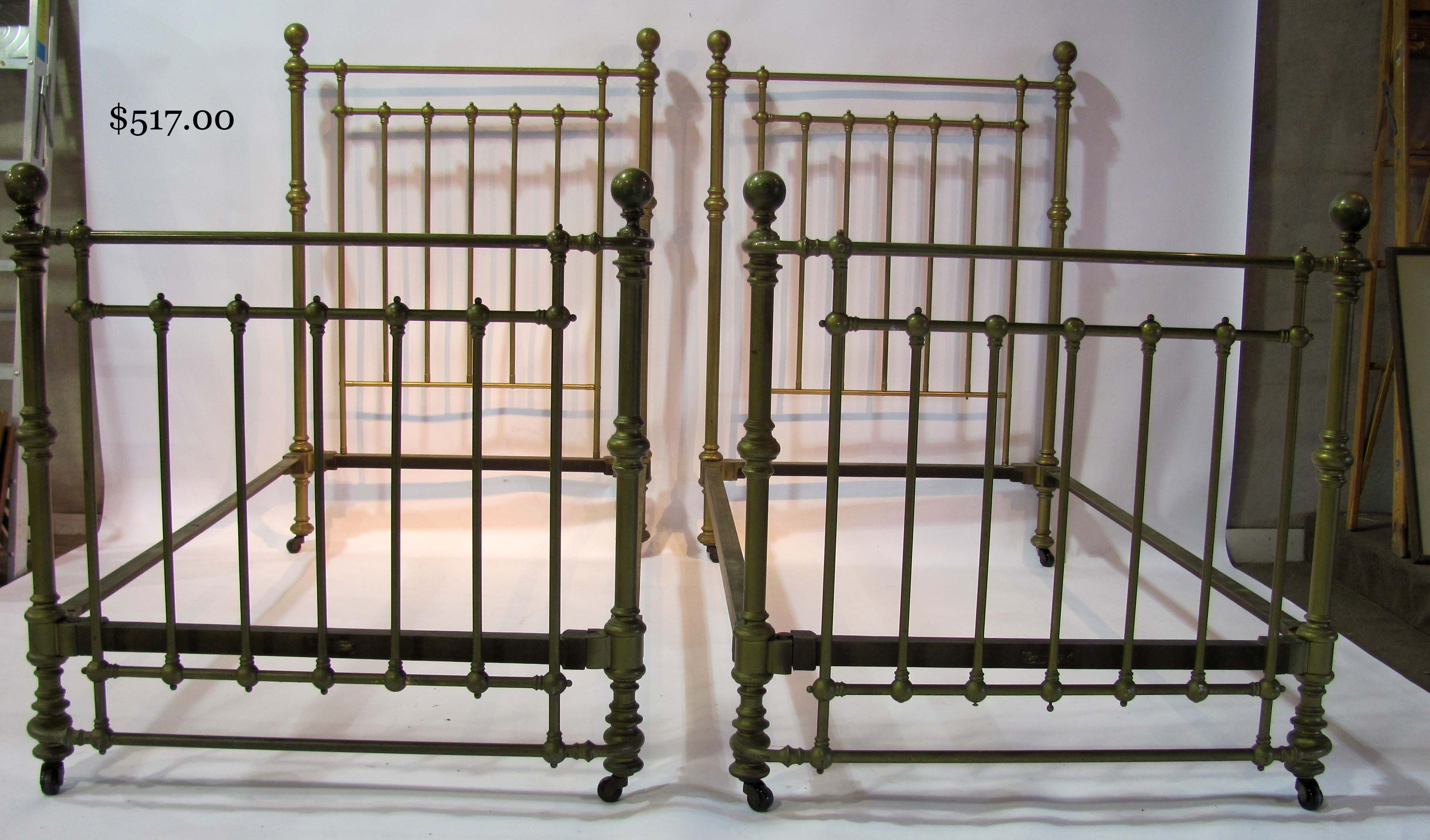 Auction of Estate Antiques : Lot514Brassbeds from www.hapmoore.com size 3579 x 2103 jpeg 447kB