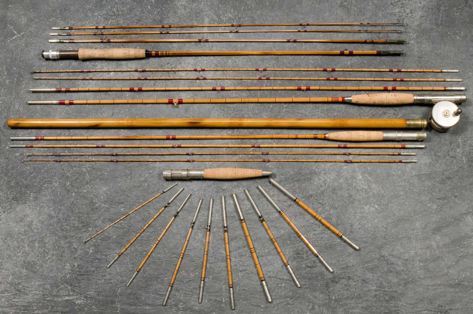 Hap moore antiques auctions may 31 2008 for Old fishing poles
