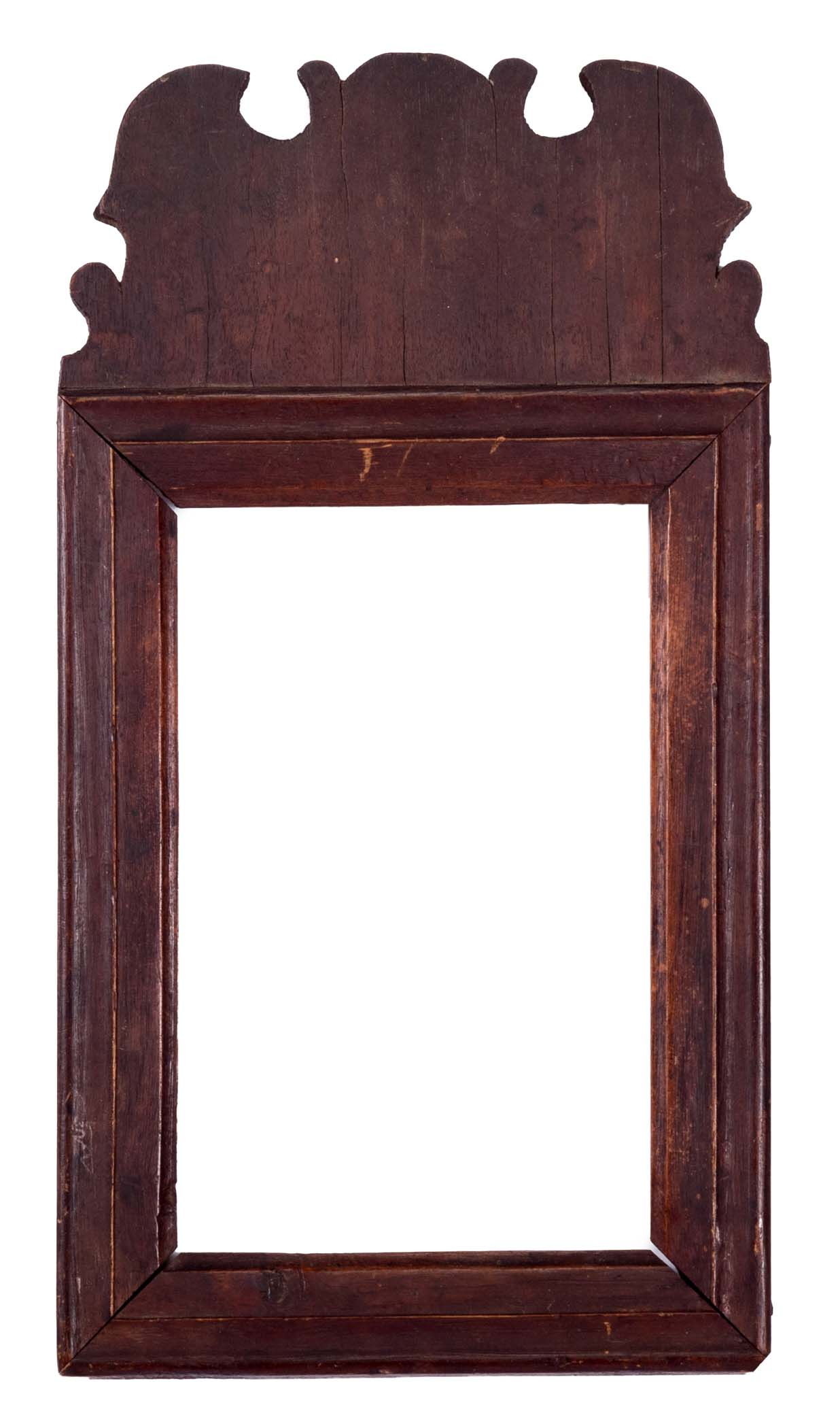 Queen Anne Mirror Frame With Shapely Crest, ...