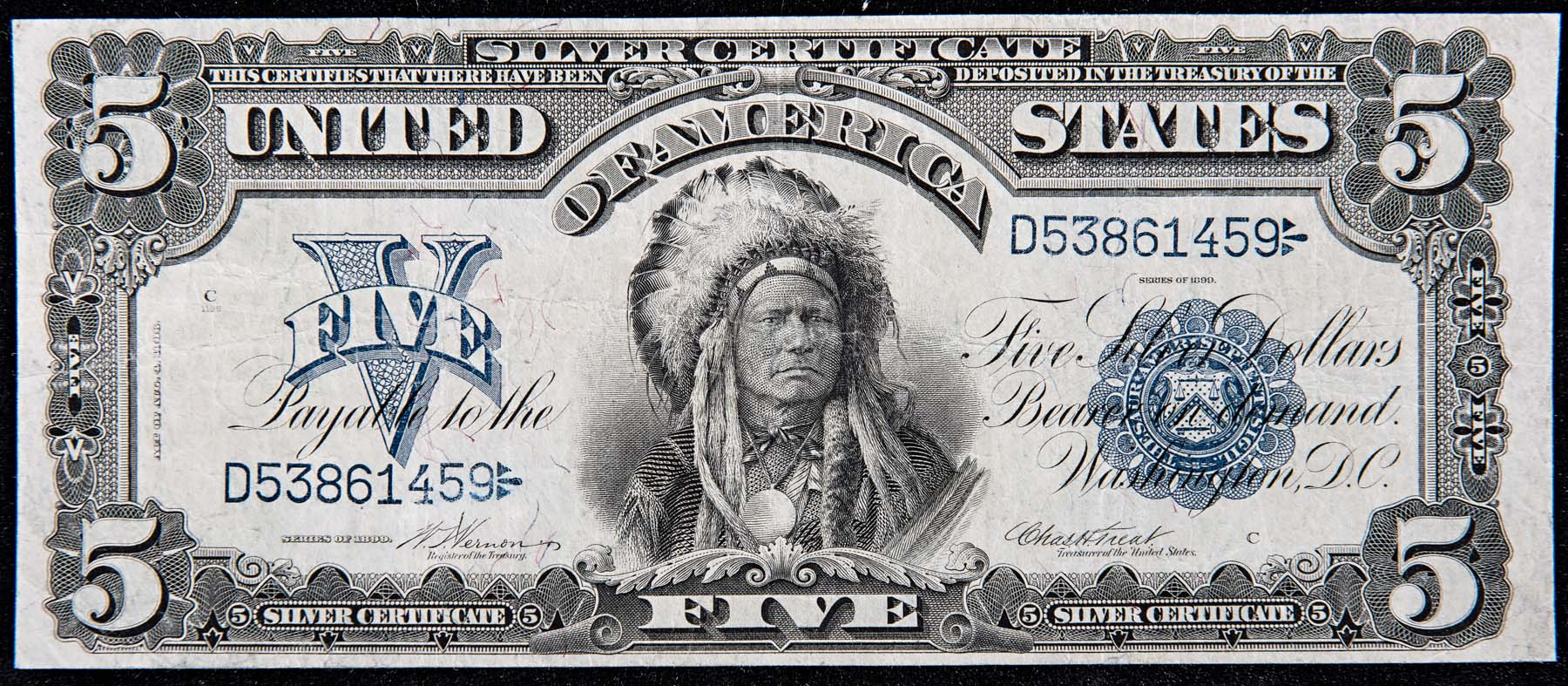 old us paper currency f
