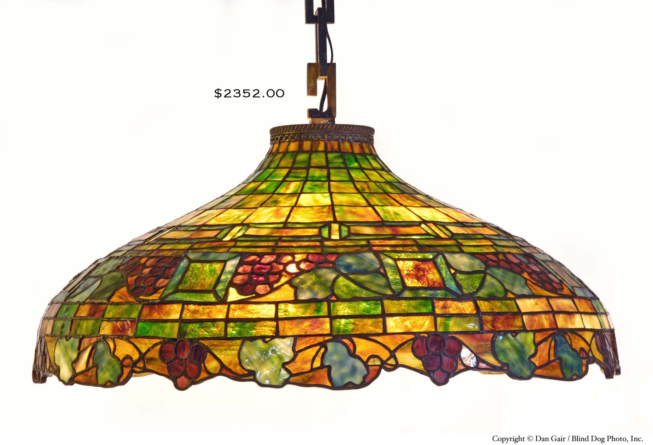 Portland Me Origin Stained Glass Hanging Fixture Hap Moore Antiques Auctions April 28 2007