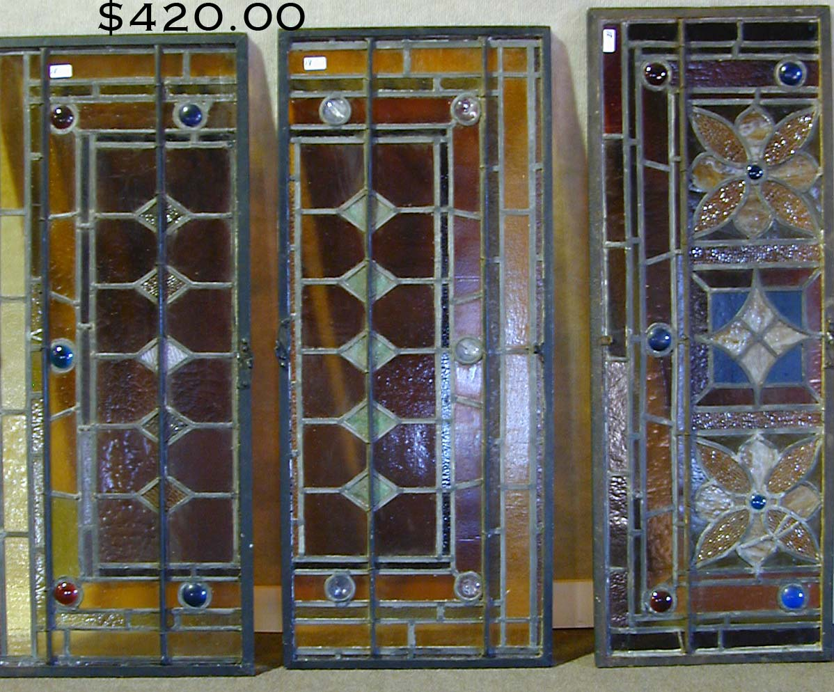 Antique stained glass doors - Early 20th C Leopard Pelt Rug